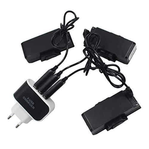 OIURV - 3 Stück 3,7V 2200MAH Akku Batterie mit 1 Stück 3 in 1 Ladegerät für SG900 Drohne