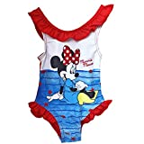 Minnie Costume da Bagno 12-18 - 24-36 Mesi Disney Estate 2019 (24 Mesi, Rosso)