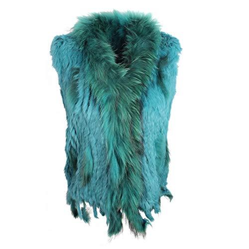 Glamexx24 gilet donna multi colore giacca di pelliccia vera pelliccia di coniglio in vari colori