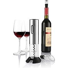 zanmini abridor de botella automáticamente, inalámbrico de acero inoxidable abridor de vino Set, con aireador vertedor de vino y cortacápsulas plata