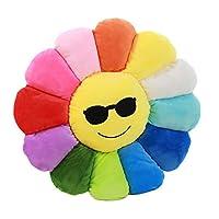 Nunubee Novelty Cute Stuffed Cotton Emoji Flowers Toys Pillow Cushions for Floor Sofa Home Decoration