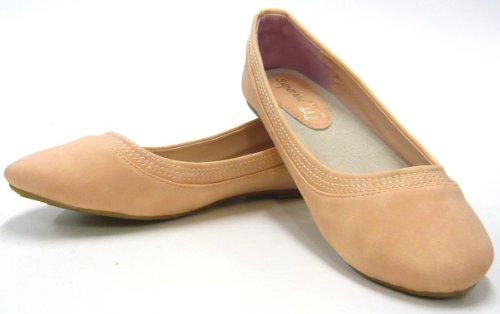 Schuh-City Damen Schuhe Ballerina, FASHION Slipper, Sommer Latschen Pink