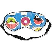Interesting Donut Characters Schlafmasken Abdeckung, lichtblockierend, Memory-Schaum, verstellbarer Riemen, Schlaf... preisvergleich bei billige-tabletten.eu