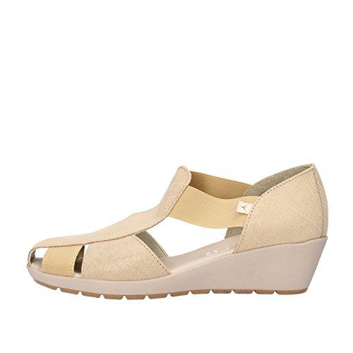 CINZIA SOFT sandali donna beige camoscio tessuto (40 EU)