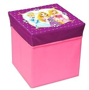Disney Princesas Caja Taburete Plegable de Almacenamiento (Suncity DPB401025)