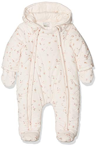 Mamas & Papas Baby-Mädchen Floral Print Pramsuit Schneeanzug, PINK S07GEY0, 3-6 Monate