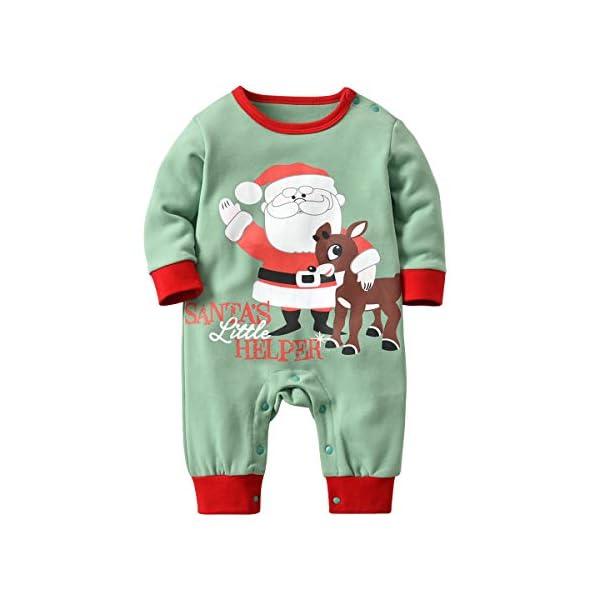 Recién Nacido Pijama Bebés Algodón Niños Niñas Espesar Sleepsuit Navidad Trajes 0-24 Meses 3
