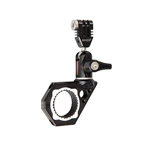 iSHOXS Mount Roll-Bar compatto - BullBar ProX 34 (apertura morsetto 30-34  mm), sostegno per action cam GoPro fresato CNC con innovativo modulo Swivel
