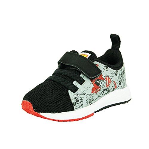 Puma KDS CARSON SUPERMAN Schwarz Grau Rot Baby Sneakers Schuhe Neu