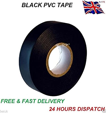 Black Electrical Pvc Insulation / Insulating Tape Flame Retardant