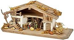 Idea Regalo - Unbekannt Presepe Natalizio NK04 - Presepe in Legno - Presepe da Tavolo con 5 Pezzi. Set di Figure in Legno Massiccio, 30 x 11 x 13 cm
