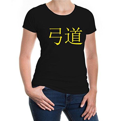 Girlie T-Shirt Kyudo-XS-black-sunflower