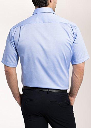 Eterna - Comfort Fit - Bügelfreies Herren Kurzarm Hemd mit Modern Kent Kragen in Blau (8100 K34P) Hellblau (12)