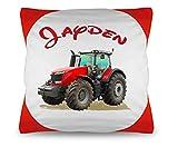 Kinder Kissen Traktor + Füllung mit Wunschnamen des Kindes