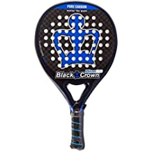 Black Crown Piton 7.0 Pala de Padel, Adultos Unisex, Negro Azul, L