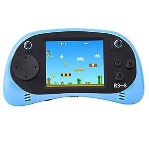 ZHISHAN Retro Consola de Juegos de Mano para Niños, Classic Handheld Game Console 8 bits 260 Integrada Clásica Old Videojuegos Nostalgia 80s, Regalo de Cumpleaños para Boy Y Propio