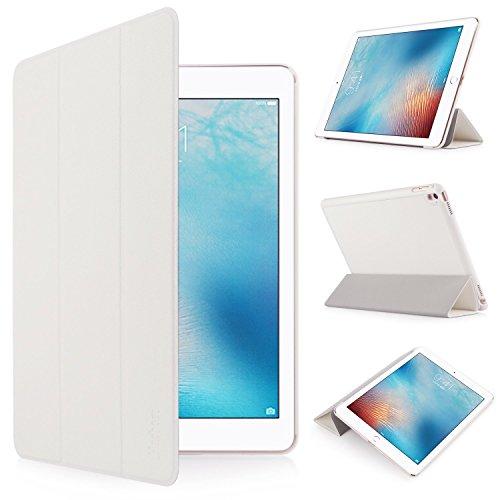 iHarbort® Apple iPad Pro 9.7 Hülle - Premium PU Leder Tasche Hülle Etui Schutzhülle Ständer Smart Cover für iPad Pro 9.7, mit Schlaf / Wach-up-Funktion (iPad Pro 9.7, weiß)