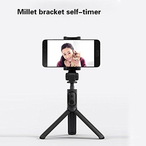 Xiaomi Selfie Stick, Yuedaer Bluetooth Stab Monopod Erweiterbar mit Stativ Selfie Stange für iPhone, iPod, Samsung und IOS, Android Handy (schwarz)