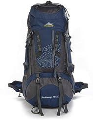 GBT Al Aire Libre Del Alpinismo Hombres Y Mujeres Profesionales De Gran Capacidad Mochila De Carga Extraíble , Deep Blue,deep blue
