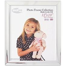 Inov8 - Marco de fotos (cromo, 25 x 30 cm)