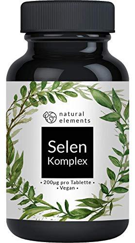 Selen Komplex - 365 Tabletten mit je 200µg - Vergleichssieger 2019* - Premium: Komplex aus Natriumselenit und Selenmethionin - Hochdosiert, ohne Magnesiumstearat, vegan und hergestellt in Deutschland -