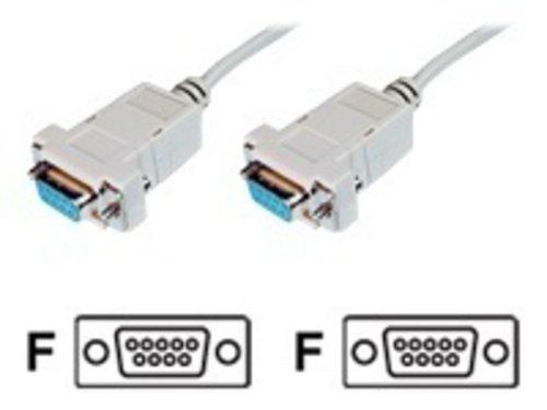 Haube-pin-kabel (Nullmodemkabel 9pol Bu/Bu, 2 m geklippt)