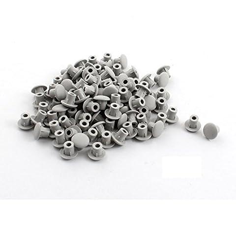 Startseite Möbeldekor 5mm grau Kunststoff-Schraube Loch-Abdeckung Stecker