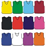 PROSTYLE SPORTS 10 Football Training Bibs Football Netball Rugby Hockey Cricket