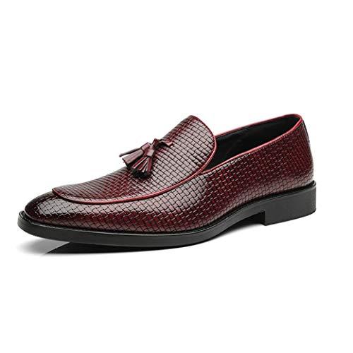 Zapatos Vestir Negocios Hombres Mocasines Cuero borlas