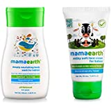 Mamaearth Deeply Nourishing Body Wash + Milky Soft Natural Baby Face Cream for Babies