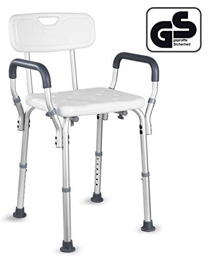 HAIRBY Duschstuhl Badehocker mit Verstellbarer medizinischer Badesitz für Behinderte, Senioren und ältere Menschen mit Rutschfester Badewanne Badestuhl
