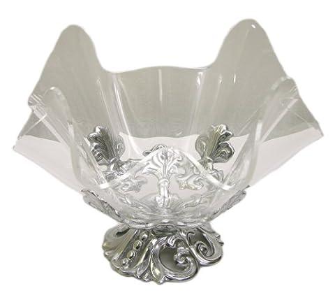 Arthur Court Fleur-De-Lis Stand with 11-Inch Acrylic Bowl