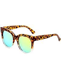 70b7676e30 ZhongYi Unisex Gafas de Sol Moda Color melocotón de película Polvo Generoso Marco  Las ...