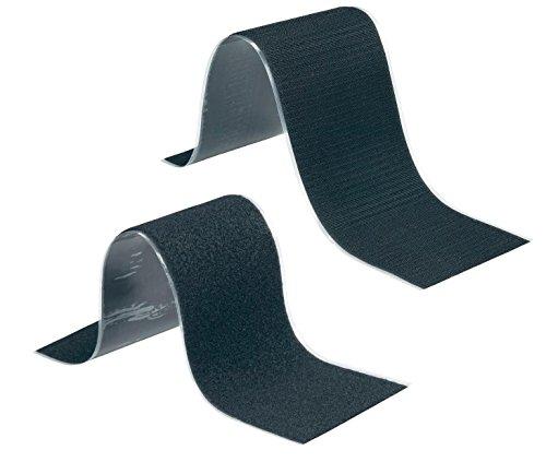 Set Selbstklebendes Klettband Schwarz, Flauschteil und Haftteil - Ideal zur Befestigung vom Kennzeichen- Kennzeichenhalter