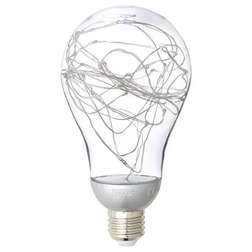 IKEA VINTERLJUS Dekorative E27 LED-Lichterkette Globe Birne, 5200K kaltweiß, silberfarben