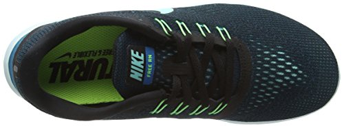 Nike Free Run, Chaussures de Running Compétition Femme Noir (Black/Hyper Turquoise Green Abyss Volt)