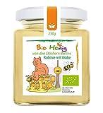 Bio Robinien-Honig mit Wabe von Matchatto - 250g Wabenhonig in Premium Qualität aus einer Honigsorte, Berliner Bio-Imkerei | flüssig, mild lieblich und fruchtig. (DE-ÖKO-070)