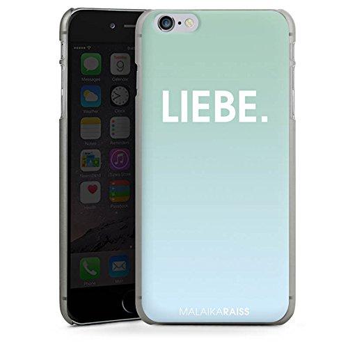Apple iPhone X Silikon Hülle Case Schutzhülle Liebe Mint Farbverlauf Hard Case anthrazit-klar
