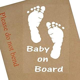 Baby an Bord Aufkleber für Fenster, Auto, Fun, Kids, Kinder, Kind, selbstklebend, Vinyl, Schild für LKW, Van, Fahrzeug
