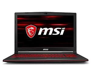 MSI GL63 8RD-618IT Notebook, 15.6'' LCD, Intel Processore i5-8300H, 128GB NVMe PCIe SSD +1TB (SATA), 8GB RAM, Nvidia GTX 1050 Ti da 4GB GDDR5 [Layout Italiano]