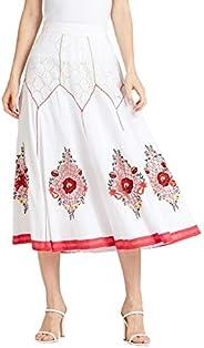 Iconic Women's 2091076 SS24CUTWRKSK Asymmetric Woven Skirt, Ye
