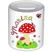 Spardose, Pilz, mit Namen, für Kinder, Geschenk, Geschenk Taufe, Sparschwein, Geldgeschenke,