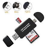 SD Card Reader, Ahomal 3-in-1 USB Type C OTG Memory Card...