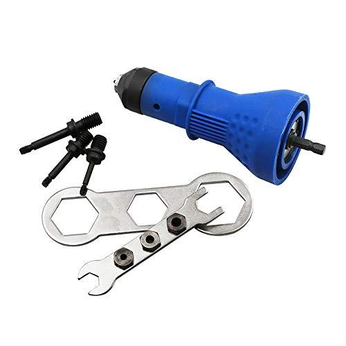 LYY Arma de la Tuerca de Remaches eléctrica, Remaches sin Cables de la Herramienta del Taladro del Adaptador de la Tuerca de inserción Herramienta