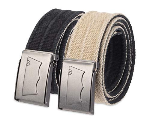 Levi's - Cinturón reversible de algodón lavado para hombre - negro - talla única