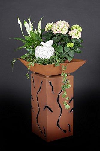 floristikvergleich.de Jabo Design Rost Säule + Schale RS10 + S03 Blumensäule Rostsäulen Rost Deko