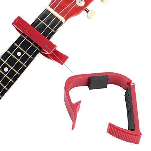 Drfeify Volks- und E-Gitarren-Kapodaster, Tragbare Gitarren-Ukulele-Klammer-Kapodaster-Zubehör