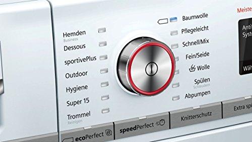 Siemens iQ700 WM14W5FCB Waschmaschine / 9,00 kg / A+++ / 152 kWh / 1.400 U/min / FC Bayern Meisterwascher / Nachlegefunktion / aquaStop mit lebenslanger Garantie / - 5