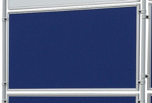 Franken EL-UTF90 03 Textiltafel Eco (beidseitig verwendbar, 120 x 90 cm) filz blau -