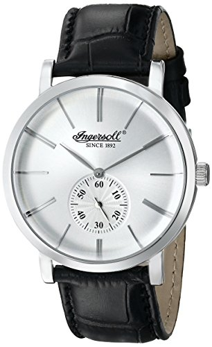 £150.00 New Ingersoll Men's Quartz Watch with Silver Dial Analogue Display and Black Leather Strap INQ012WHSL